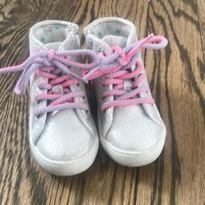 Silver & Pink sneakers